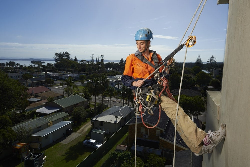Women in non traditional occupations Rope access